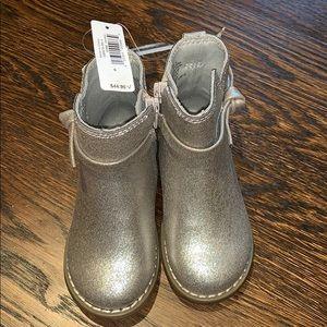 Toddler girl new gold tan boots $45 Gap glitter